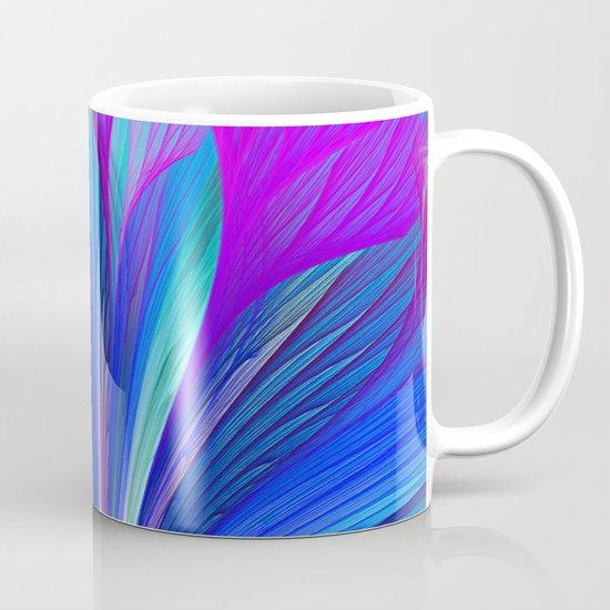 Flower Fantasy in Blue Mug