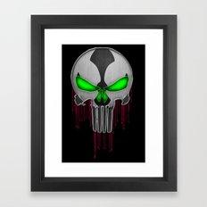 Punisher Spawn Mash-Up Framed Art Print