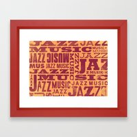Jazz Poster Framed Art Print