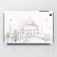 Watercolor landscape illustration_India - Taj Mahal iPad Case