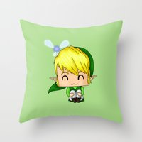 Chibi Link Throw Pillow