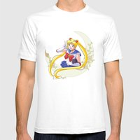 Sailor Moon Mens Fitted Tee White SMALL