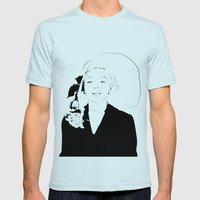 MARILYN MONROE Mens Fitted Tee Light Blue SMALL