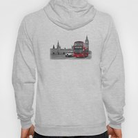 Black and White London with Red Bus Hoody