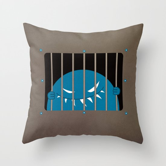 Evil Monster Kingpin Jailed  Throw Pillow