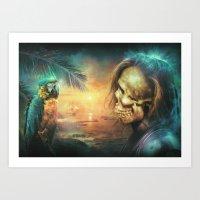 Art Print featuring Antonio Bay by Falcon White