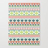 Aztec Stripe Canvas Print