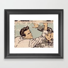 Pop Fight Framed Art Print