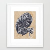 Mars Octopus Framed Art Print