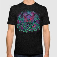 COSMIC HORROR CTHULHU Mens Fitted Tee Tri-Black SMALL