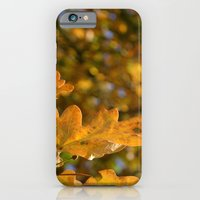 iPhone & iPod Case featuring Yellow Oak Leaves by Emele Photography