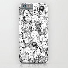 just alpacas black white Slim Case iPhone 6s