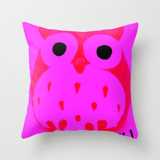 Owl ROCK! Throw Pillow