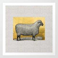 GOLDEN SHEEP Art Print