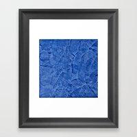 Vibrant Light Blue Plast… Framed Art Print