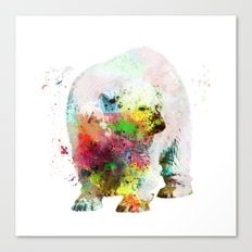 Bear Painting Canvas Print