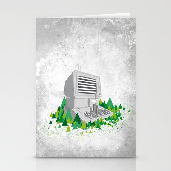 Keyboard City Stationery Card