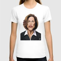 wes anderson T-shirts featuring Celebrity Sunday ~ Gillian Anderson by Rob Snow