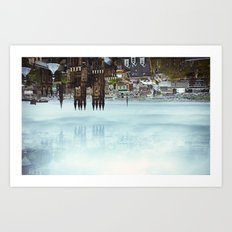 Edinburgh inverted Art Print