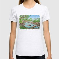river  Womens Fitted Tee Ash Grey SMALL