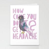 Headache! Stationery Cards