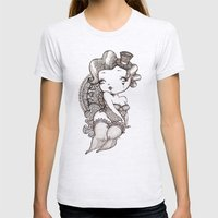 Chubby Burlesque Womens Fitted Tee Ash Grey SMALL
