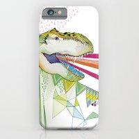 iPhone & iPod Case featuring Dinosaur / August by Belén Segarra
