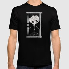 Spacetime Black Mens Fitted Tee SMALL