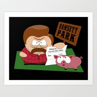 South Parks and Rec Art Print