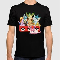 POKEMONS Eevelution Mens Fitted Tee Black SMALL