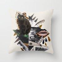 AYAHUASCA CAT Throw Pillow