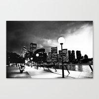 Mono-Chrome City Canvas Print