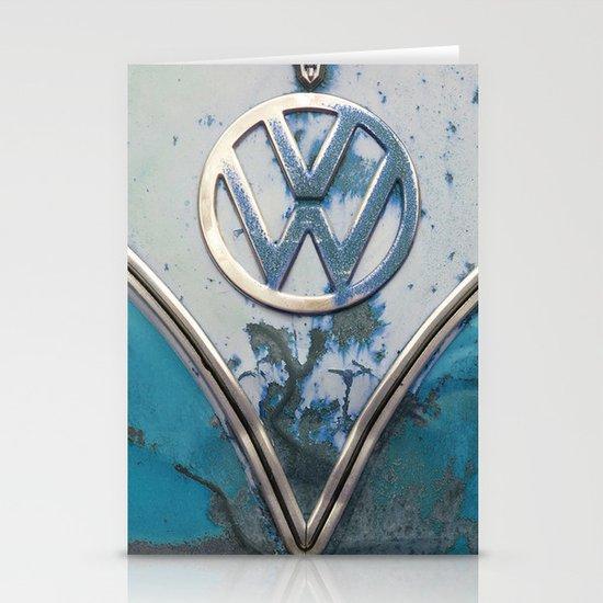 Blue Rusty VW Stationery Card