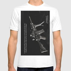 2nd Amendment White Mens Fitted Tee SMALL