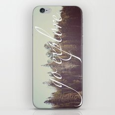 Go Explore  iPhone & iPod Skin