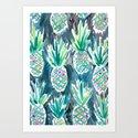 Wild Pineapples Art Print