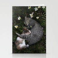 Sleep [A CAT AND A KITTE… Stationery Cards