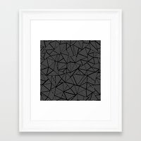 Abstraction Linear Framed Art Print