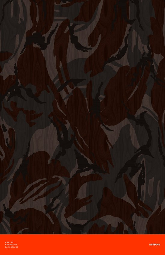 Modern Woodgrain Camouflage / British DPM Art Print