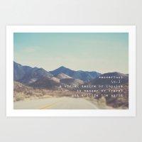 wanderlust ... Art Print
