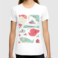 Weird Fishes Womens Fitted Tee White SMALL