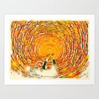 Swirl Selfie Art Print