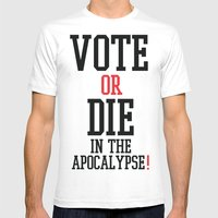 Vote Apocalypse Mens Fitted Tee White SMALL