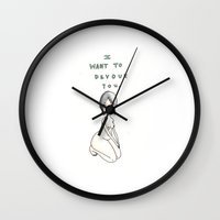 I Want To Devour You Wall Clock