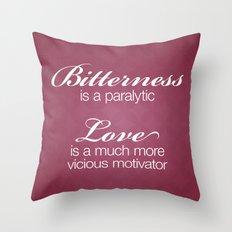 Bitterness & Love Throw Pillow