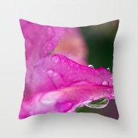 Flower Rain Throw Pillow