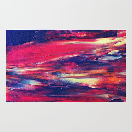 Abstract Painting 24 Area & Throw Rug