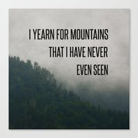Mountain Yearning  Canvas Print