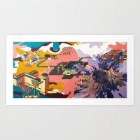 map Art Prints featuring map by Robert Deutsch