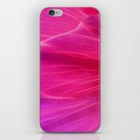Cerise Poppy Petal Abstract iPhone & iPod Skin